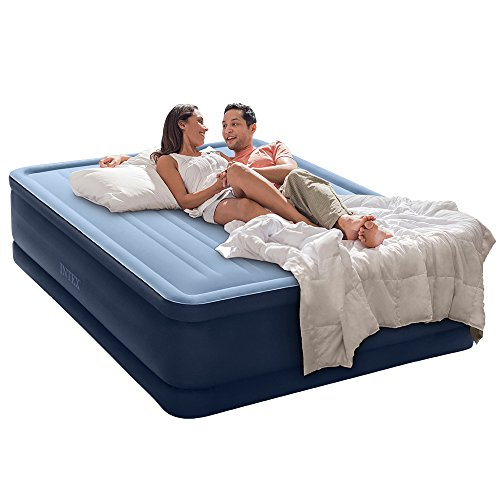 Intex Premaire Series Robust Comfort Airbed with Built-In Electric Pump