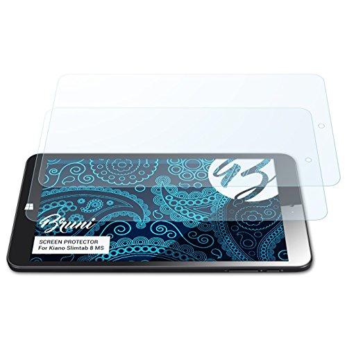 Bruni Schutzfolie kompatibel mit Kiano Slimtab 8 MS Folie, glasklare Bildschirmschutzfolie (2X)