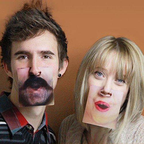 Face Mats Untersetzer mit 3D Effekt im 20er Set - Gesichter Bierdeckel Glasuntersetzer Glas Untersetzer