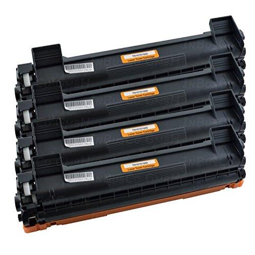 4 cartuchos de tóner TN1050 para impresoras Brother DCP-1510, DCP-1510R, DCP-1511, DCP-1512, DCP-1512A, DCP-1512R, DCP-1514, DCP-1518, DCP-1519, DCP-1601, DCP-1610 W, DCP-1612 W, DCP-1616 NW