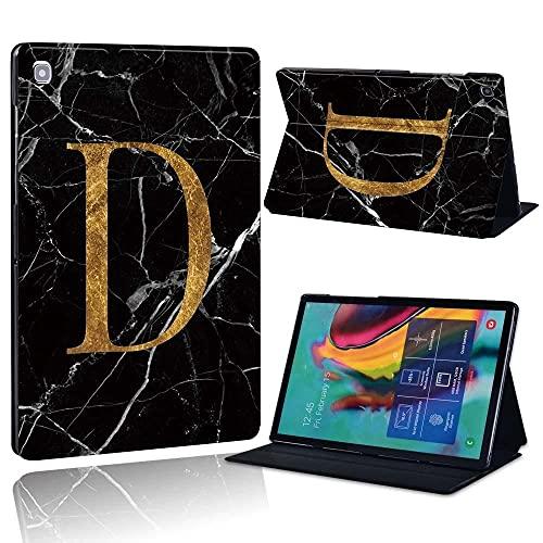 Estuche de Tableta de Cuero patrón de mármol Estuche de Tableta Letra Creativa Estuche de Tableta Simple Soporte de la Tableta-D_Galaxy Tab A A6 7.0