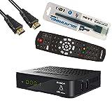 Edision OS NINO Full HD Satelliten Linux E2 Receiver schwarz inkl. Wlanabel und HDMI Kabel