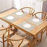 Alfombra lavable resistente al calor para mesa de comedor de cocina, curlicues geométricos con patrón de línea horizontal, para comedor cocina y restaurante, juego de 8