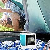 Qinmo Mobile Aire Acondicionado, Aire Acondicionado, Mini acondicionador de aire mini portátil USB refrigerador de aire del humidificador personal y purificadora de agua con 7 colores LED luces, blanc