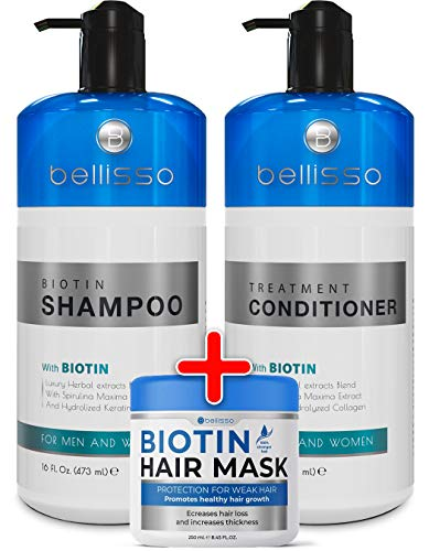 Biotin Shampoo and Conditioner and Hair Mask for Hair Growth - Thickening Anti Hair Loss Shampoo Treatment - Regrowth Shampoo & Conditioner & Hair Mask for Dry Normal Oily & Color Treated Hair