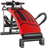 Banco de abdominales ajustable para bicicleta de ejercicio interior magnético para entrenamiento, banco inclinado de entrenamiento de entrenamiento abdominal plegable, banco de abdominales curvo decli