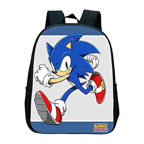 XINKANG Sonic The Hedgehog Sonic Kindergarten Backpack Sonic Backpack Kids Bag Kindergarten Bag Waterproof Backpack Daily Backpack Children's Backpack