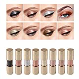 Rechoo Metal Glitter Liquid Eyeliner 8 Colors Long Lasting Waterproof Metallic Sparkling Eye Shadow Pen