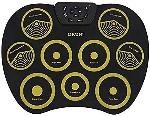 Tragbare Falten E-Drum Kit Drum Kit 9 Silikon-Auflage USB-Stromversorgung mit Pedal USB-Kabel, Erwachsene und Kinder Percussion FDWFN