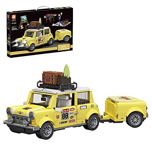 DWEG-Forange Block FC1802 Touring-Picknick-Wohnwagen-Anhänger-Bausteinmodell 1546PCS, Autobaukasten-Bausatz der romantischen Technologieserie, kompatibel mit Lego-Technologie.