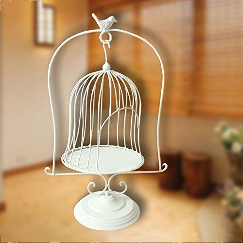 Cage à oiseaux en bois de style européen de style européen, cadre de fleur, cadre, fenêtre, accessoires de mariage, étagère en métal (Couleur : Blanc)