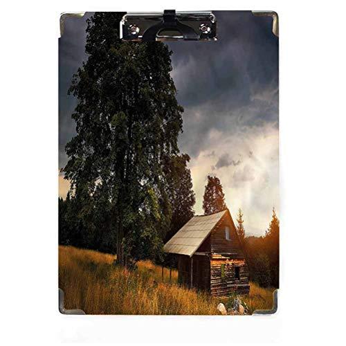 Appunti rustici decorativi in legno duro, clip a basso profilo pastorale casa in stile country personalizzato carino cartoncini per ufficio con clip a basso profilo per carta formato lettera