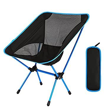 Domary Outdoor Folding Camping Chairs Portable Moon Leisure Chair Beach Chairs with Carry Bag for Hiking/Travel/Hunting/Fishing