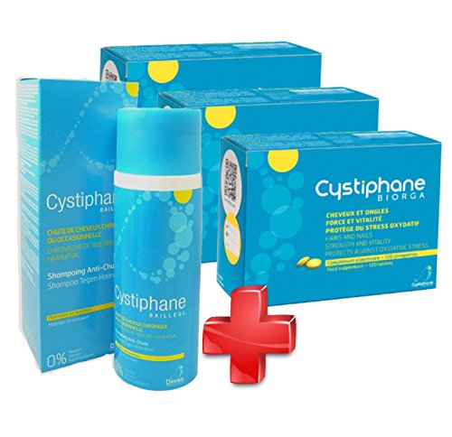 Cystiphane Bailleul - Cystine B6 Zinc Arginine - Cheveux et ongles - Lot de 3 x 120...