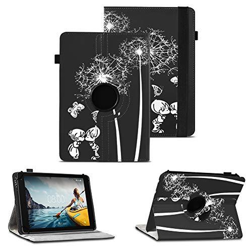 NAUC Tablet Schutzhülle kompatibel für Medion Lifetab P8912 Hülle Tasche Standfunktion 360° Drehbar Cover Universal Hülle, Farben:Motiv 12