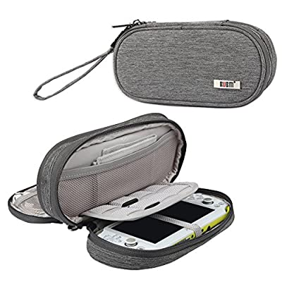 BUBM Double Compartment Storage Case Compatible with PS Vita, Protective Carrying bag, Portable Travel Organiser Case Compatible PSV and Other Accessories, Black