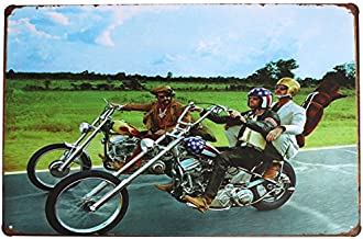 SUMIK Easy Rider (1969) Ride Free Motorcycle Metal Tin Sign Vintage Poster Garage Wall Decor Plaque