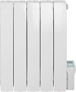SOL-AIRE Forte Radiador eléctrico de aluminio con relleno de aceite/Smart WiFi para montar en la pared con temporizador, Blanco, 900W