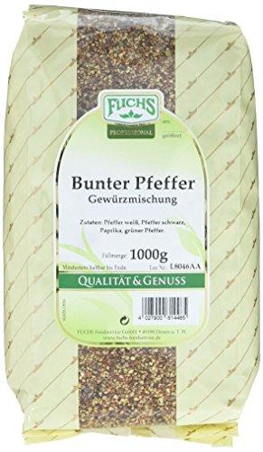 Fuchs Bunter Pfeffer Gewürzmischung geschroten 1000 g, 1er Pack (1 x 1 kg)