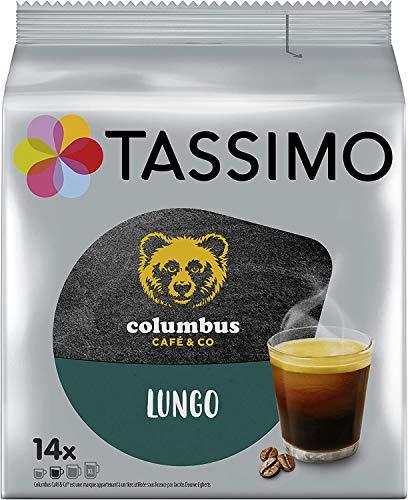 Tassimo Café Dosettes - 70 boissons Columbus Lungo (lot de 5 x 14 boissons)