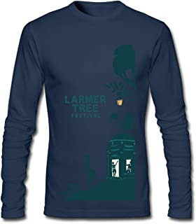 Hefeihe DIY Larmer Tree Music Festival 2016 Men's Long-Sleeve Fashion Casual Cotton T-Shirt
