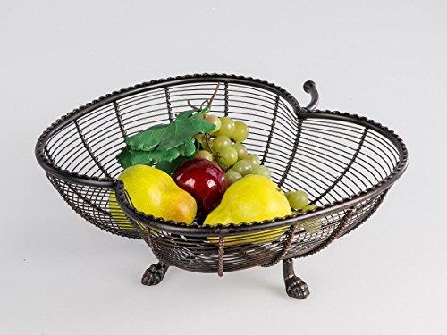 Formano Bol de Pomme sur Trois Pieds Bol à Fruits 32 cm Roma métal Brun