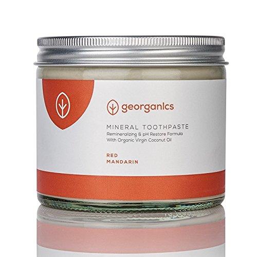 Georganics Dentifricio Naturale Rimineralizzante All'Olio Di Cocco Biologico - Mandarino Rosso 120Ml