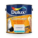 <span class='highlight'><span class='highlight'>Dulux</span></span> Easycare Washable & Tough Matt Emulsion Paint For Walls And Ceilings - Just Walnut 2.5L