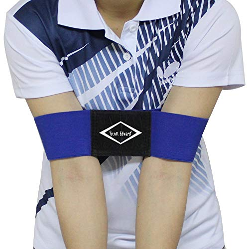 Scott Edward Pro Golf Swing Arm Band Training Aid for Golf Beginners, Blue