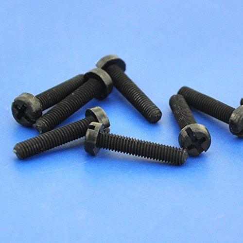 Electronics-Salon 1000pcs m3 x 15 mm à vis en nylon noir.