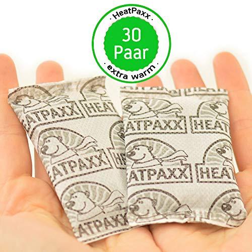 HeatPaxx 30 Paar Handwärmer – endlich Wieder warme Hände – 30 x 2 Heizkissen im praktischen Vorteilspack - Handliche Taschenwärmer für unterwegs