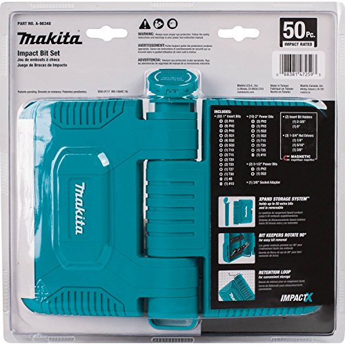 Makita A-98348 50 Piece Impactx Driver Bit Set