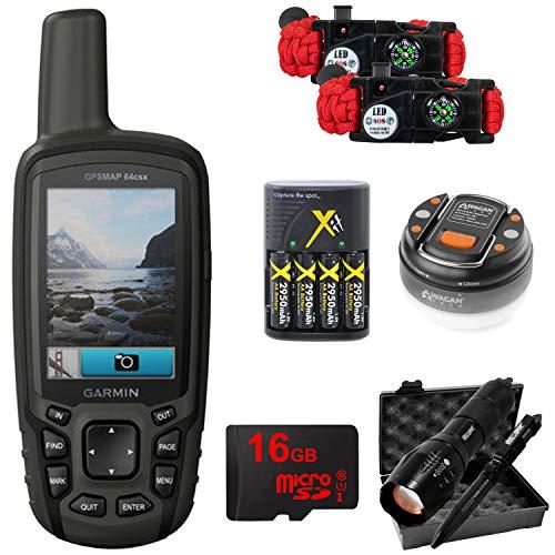 Garmin GPSMAP 64csx Handheld GPS with 16GB Camping & Hiking Bundle - (010-02258-20)
