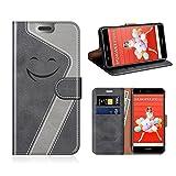 MOBESV Smiley Huawei P10 Lite Wallet Case, Huawei P10 Lite