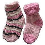 4 Paar Baby Kuschelsocken Bettsocken Kuschel Socken Haussocken (80-92, Rosa-Mix)