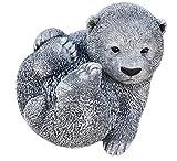 Steinfigur großer Bär Bärchen Panda, Frost- und wetterfest bis -30°C, massiver Steinguss