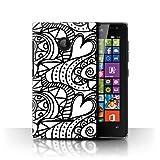 Phone Case for Microsoft Lumia 532 Black Fashion Heart