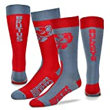 Ohio State Buckeyes Mismatch Big Top Socks - Large