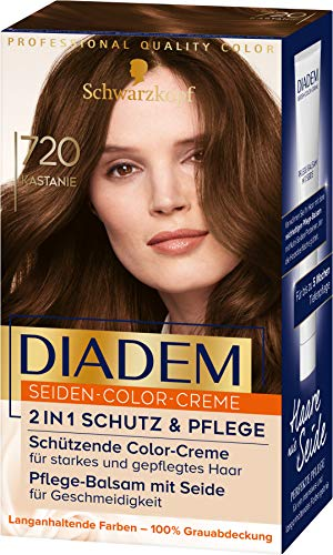 Diadem Seiden-Color-Creme 720 Kastanie Stufe 3, 3er Pack(3 x 170 ml)