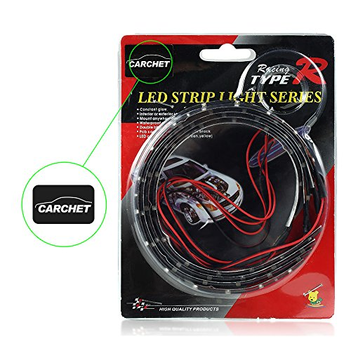 Ecloud Shop® 10 pieces 4X Bande Lumineux Flexible Lampe 15 LEDs Vert 30cm 12V Pour Voiture