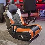 X Rocker, 5130301, V Rocker SE Black Foam Floor Video Gaming Chair for Adult, Teen, and Kid Gamers, 25.2 x 18.4 x 16.4, Black