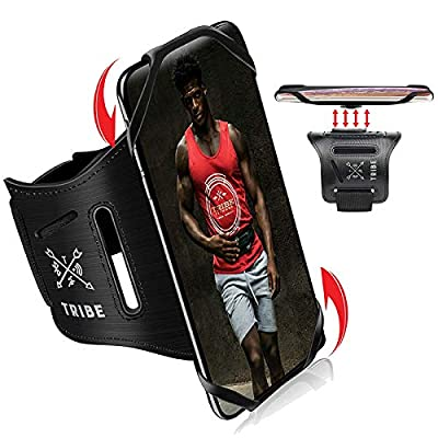 TRIBE Phone Holder for Running Sports Armband. iPhone Cellphone Arm Bands for Women & Men, Exercise, Cycling, Jogging, Walking & More! 360° Rotation & Detachable. Cell Case for iPhones, Galaxy & More!