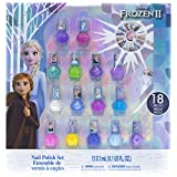 Townley Girl Frozen 2 Non-Toxic Peel-Off Nail Polish Set for Girls, Glittery and Opaque Colors, with Nail Gems, Ages 3+, for Parties, Sleepovers and Makeovers