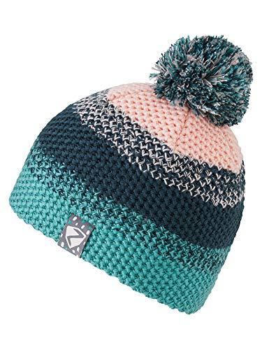 Ziener kinderen ISHI JUNIOR hat pompon-muts/warm, gebreid, mermaid green, S