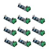 Acxico 10Pcs LM386 Chip Audio Amplifier Module 200 Times Gain Audio Power Amplifier Board 5V-12V Adjustable Resistance