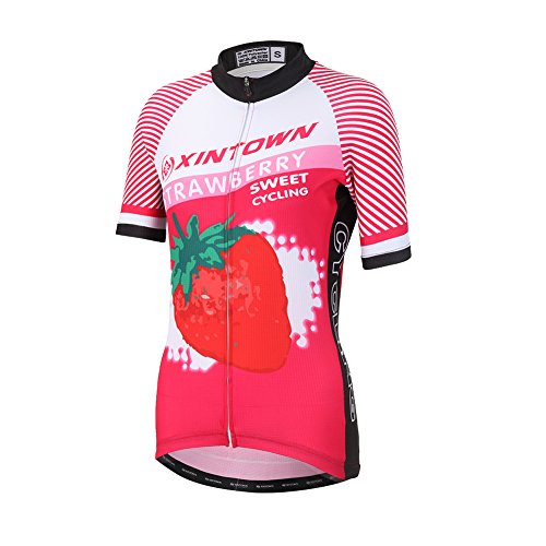 Amur Leopard Maillot Ciclismo de Mujer Camiseta de Manga Corta Ciclismo Transpirable...