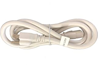 BYBON 3FT 18 AWG SJT Universal Power Cord NEMA 5-15P to C13,White,UL listed