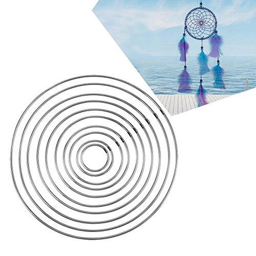10 Sizes Bind Metal Ring Welding Iron H10 misure legano l'anello del metallo che ripara il cerchio del ferro per DIY Dream Catcher Artigianato Decoraziooop for DIY Dream Catcher Crafts Home Decoration