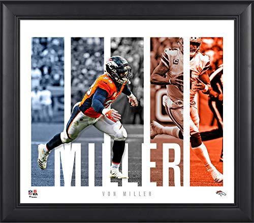 "Von Miller Denver Broncos Framed 15"" x 17"" Player Panel Collage - NFL Player Plaques and Collages"