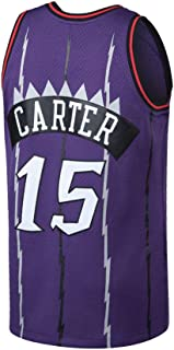 Qutjiw Mens Carter Jersey Adult Basketball Retro Athletics 15 Vince